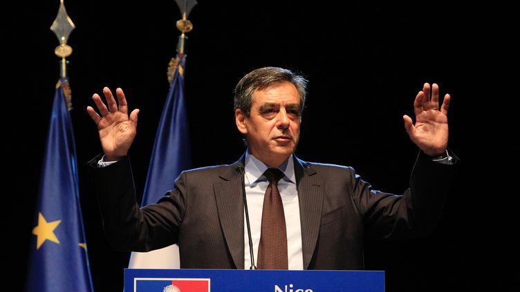 L'ancien Premier ministre François Fillon, le 13 septembre 2013 à Nice (Alpes-Maritimes). (JEAN CHRISTOPHE MAGNENET / AFP)