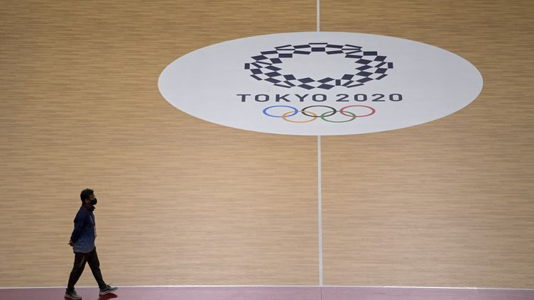 Le stade National Yoyogi de Tokyo, le 21 juillet 2021. (DANIEL LEAL-OLIVAS / AFP)