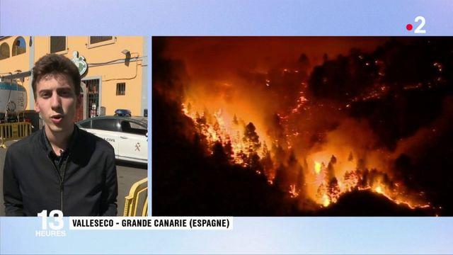 Incendie à Grande Canarie : une baisse des températures favorable à l'extinction du feu