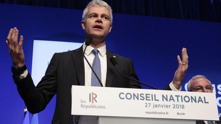 Laurent Wauquiez, le 27 janvier 2018. (GEOFFROY VAN DER HASSELT / AFP)