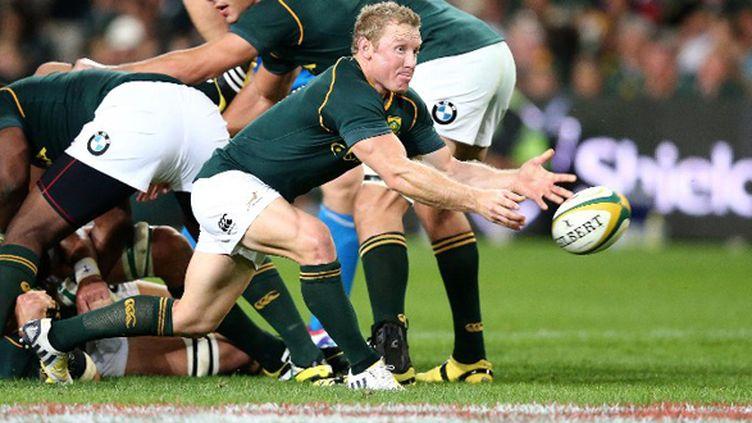 Jano Vermaak sous le maillot de l'Afrique du Sud (ANESH DEBIKY / AFP)
