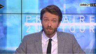 Capture d'écran montrant le journaliste Antoine Genton, sur i-Télé, le 27 novembre2016. (I-TELE)