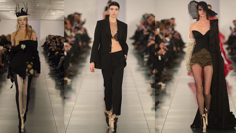 Premier défilé haute couture printemps-été 2015 de John Galliano pour la Maison Martin Margiela, à Londres.  (PHOTOSHOT/MAXPPP)