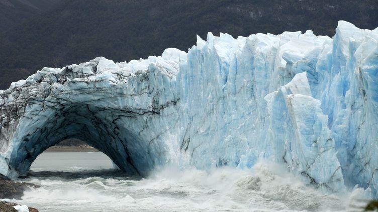 Le glacier Perito Moreno, le 11 mars 2018 en Argentine. (WALTER DIAZ / AFP)