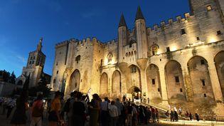 Le palais des Papes, à Avignon, le 6 juillet 2016. (ANNE-CHRISTINE POUJOULAT / AFP)