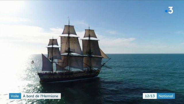 Une virée à bord de l'Hermione, le bateau du marquis de La Fayette