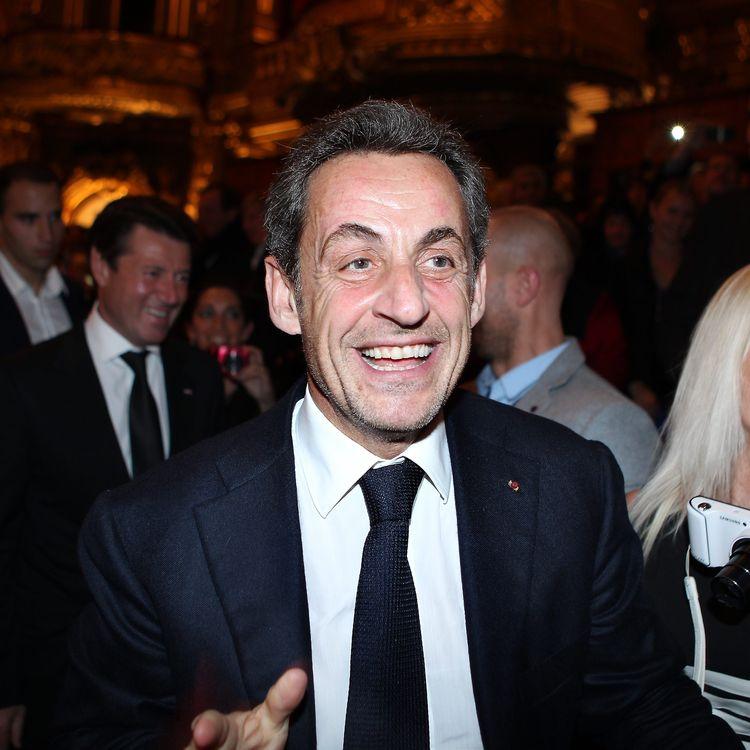 L'ancien président de la République, Nicolas Sarkozy, arrive au concert de sa femme, Carla Bruni, le 6 décembre 2013 au casino de Monte-Carlo. (MAXPPP)