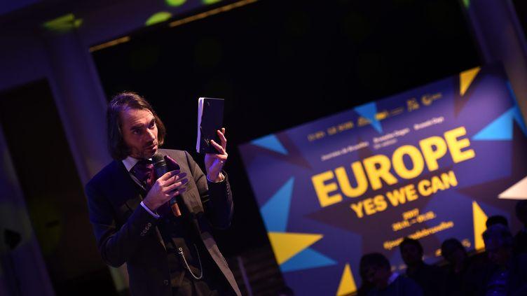 Cédric Villani en décembre 2017, à Bruxelles. (MAXPPP)