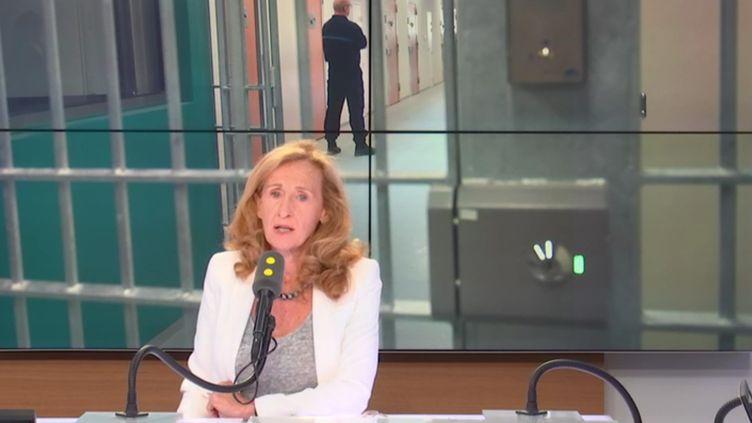 La ministre de la Justice, Nicole Belloubet, invitée de franceinfo le 30 août 2018. (RADIO FRANCE / FRANCE INFO)