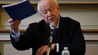 Le maire Les Républicains de Marseille (Bouches-du-Rhône), Jean-Claude Gaudin, le 4 novembre 2019. (CHRISTOPHE SIMON / AFP)