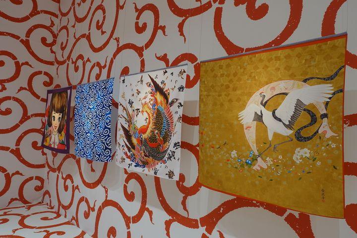 Des Furoshikis signés Shishu, Rune Naito, Asao Tokolo, Kanako Kinutani  (Corinne Jeammet)