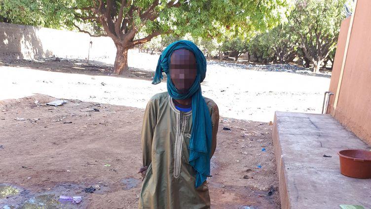 Abdoulaye, 30 ans, habitant de Bounti (Mali), était présent le jour des frappesfrançaises, le 3 janvier 2021. (OMAR OUAHMANE / RADIO FRANCE)