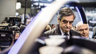 François Fillon visite le Salon international de la machine agricole à Villepinte (Seine-Saint-Denis), le 28 février 2017. (HAMILTON / REA)
