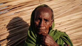 Jeshu Walagarima,75 ans, une réfugiée éthiopienne dans le campd'Oum Raquba (Soudan), le 11 décembre 2020. (YASUYOSHI CHIBA / AFP)