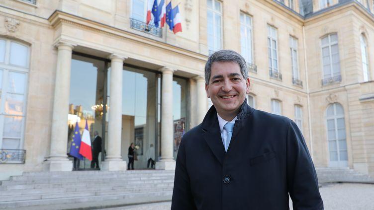 Jean Rottnerquitte l'Elysée, le 26 février 2019, à Paris. (LUDOVIC MARIN / AFP)