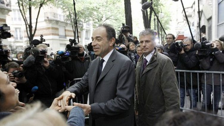 Jean-François Copé au QG de campagne de Nicolas Sarkozy (KENZO TRIBOUILLARD / AFP)