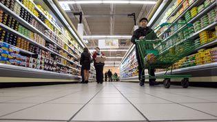 Dans un supermarché de Besançon (Doubs), le 1er mars 2013. (SEBASTIEN BOZON / AFP)