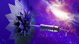 Une voile solaire dans l'espace créée sur ordinateur. Ilustration (GETTY IMAGES / SCIENCE PHOTO LIBRARY RF)