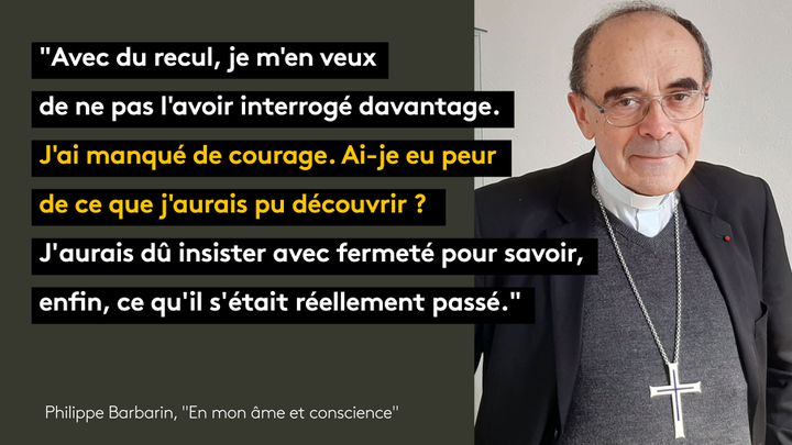 "Philippe Barbarin, ""En mon âme et conscience"" (Plon). (FRANCEINFO / RADIO FRANCE)"