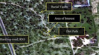Image satellite publiée le 28 janvier 2016 par Amnesty International montrant les zones de possibles charniers dans la région Buringa, au nord de Bujumbura, au Burundi. (REUTERS / DigitalGlobe / Amnesty International via Reuters)