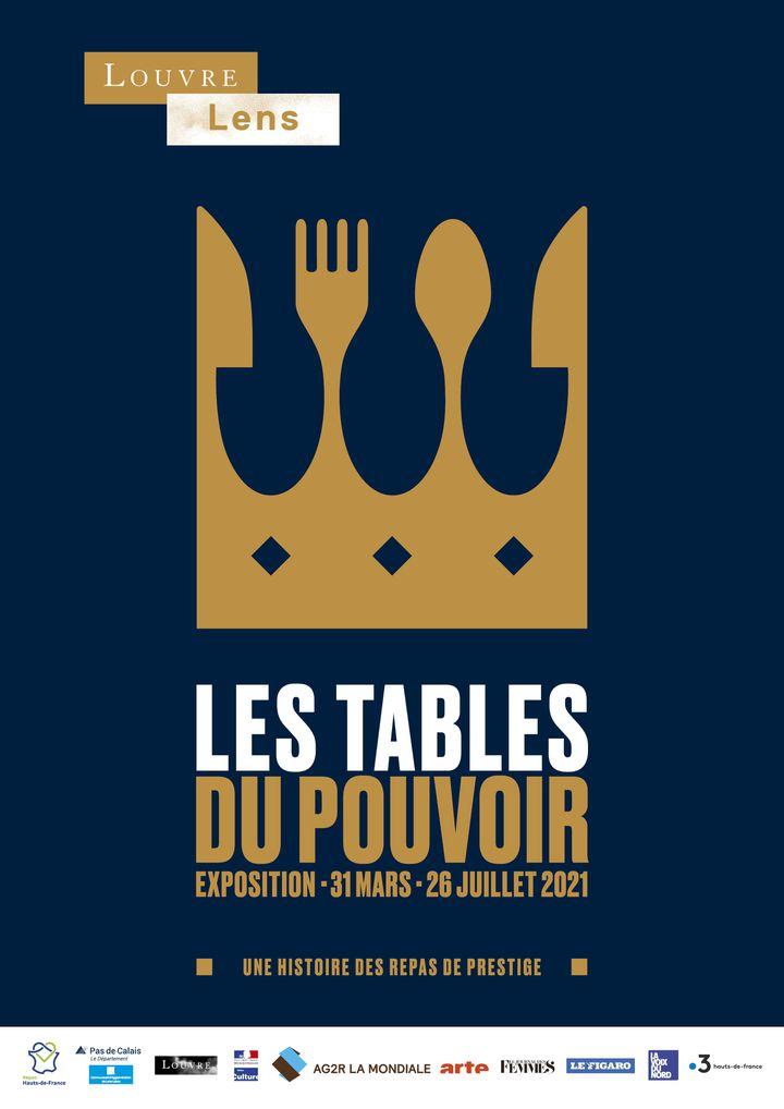 Affiche de l'exposition Les tables du pouvoir (Louvre-Lens)