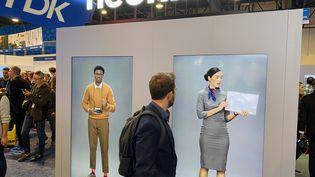 """Les """"humains virtuels"""" de Samsung au CES de Las Vegas (JC/RF)"""