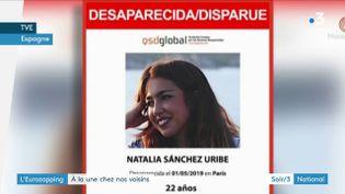 Une étudiante espagnole disparue à Paris (France 3)