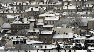 La neige est tombée abondamment, le 16 janvier 2017, sur Nancy (Meurthe-et-Moselle). (MAXPPP)