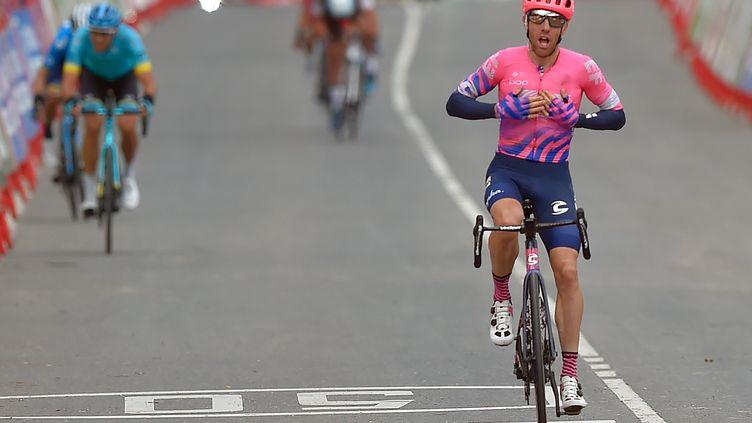 Michael Woods remporte son deuxième succès d'étape sur les routes du Tour d'Espagne (ANDER GILLENEA / AFP)