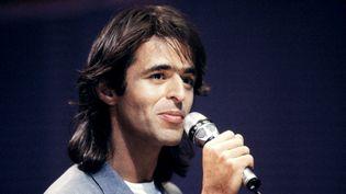 Jean-Jacques Goldman, lors d'un concert en 1987 à Bordeaux (GEORGES BENDRIHEM / AFP)