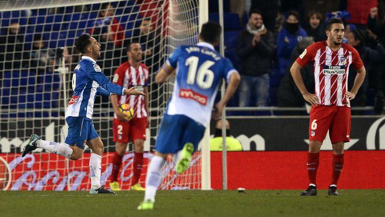 Les joueurs de l'Atletico dépités (JOSEP LAGO / AFP)