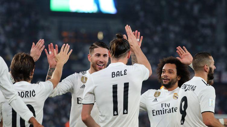 La joie des joueurs du Real Madrid (KARIM SAHIB / AFP)