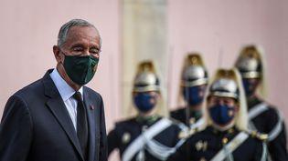 Marcelo Rebelo de Sousa, le président du Portugal au Palais présidentiel à Lisbonne, le 2 novembre 2020. (PATRICIA DE MELO MOREIRA / AFP)