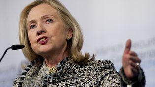 L'ancien secrétaire d'Etat américaine, Hillary Clinton, le 4 février 2012 à Munich (Allemagne). (JIM WATSON / AFP)