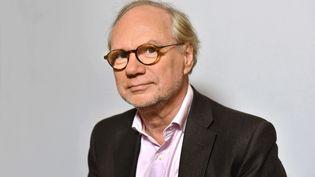 """Laurent Joffrin, alors directeur de """"Libération"""", le 6 novembre 2017 à Paris. (SIPA)"""