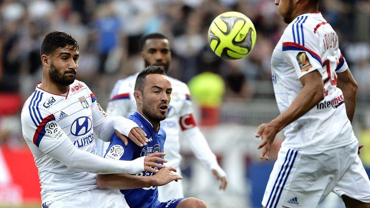 Danic (Bastia), cerné par Fekir et les Lyonnais (JEFF PACHOUD / AFP)