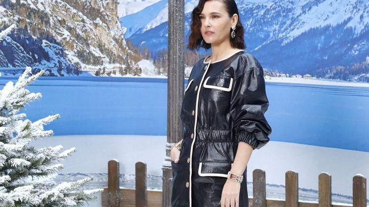 Virginie Ledoyen le 5 mars 2019, défilé Channel au Grand Palais (FRANCOIS GUILLOT / AFP)