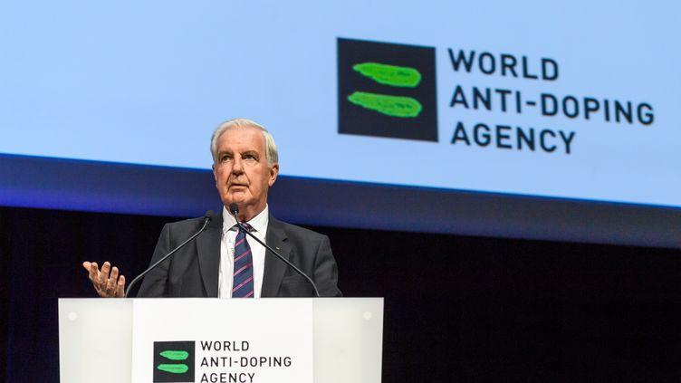 Le président de l'AMA Craig Reedie (FABRICE COFFRINI / AFP)