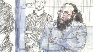 Abdelkader Merah s'exprime devant la cour d'assises spéciale de Paris, le 20 octobre 2017, à Paris. (BENOIT PEYRUCQ / AFP)