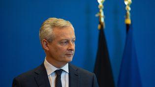 Le ministre de l'Economie, Bruno Le Maire, lors d'une conférence de presse avec son homologue allemand à Paris, le 27 mai 2021. (ANTOINE DE RAIGNIAC / HANS LUCAS)
