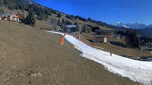 La station des Saisies(Savoie), à 1 500 mètres d'altitude, le 25 décembre 2015. (LESSAISIES.COM)