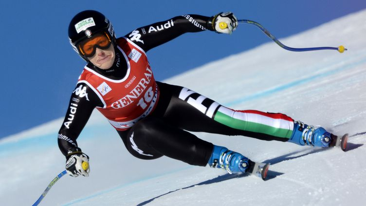 Deuxième victoire en carrière pour Elena Fanchini (JOE KLAMAR / AFP)