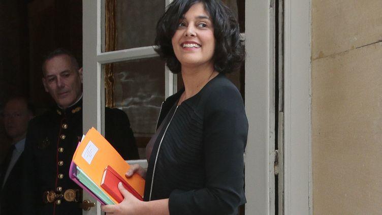 La ministre du Travail, Myriam El Khomri, arrive à Matignon le 7 mars 2016. (JACQUES DEMARTHON / AFP)