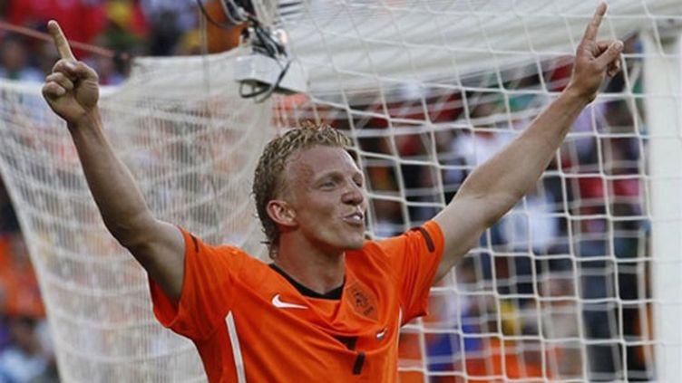 L'attaquant de Liverpool Dirk Kuyt