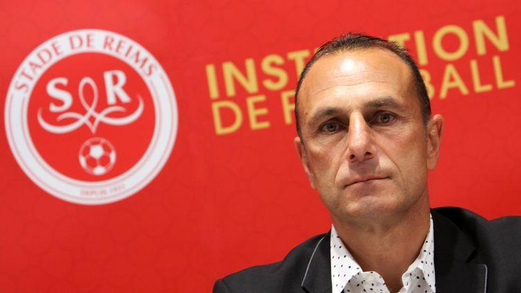 Michel Der Zakarian, entraîneur du Stade de Reims. (ANTHONY SERPE / ANTHONY SERPE)