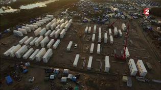 Camp de migrants (CAPTURE ECRAN FRANCE 2)