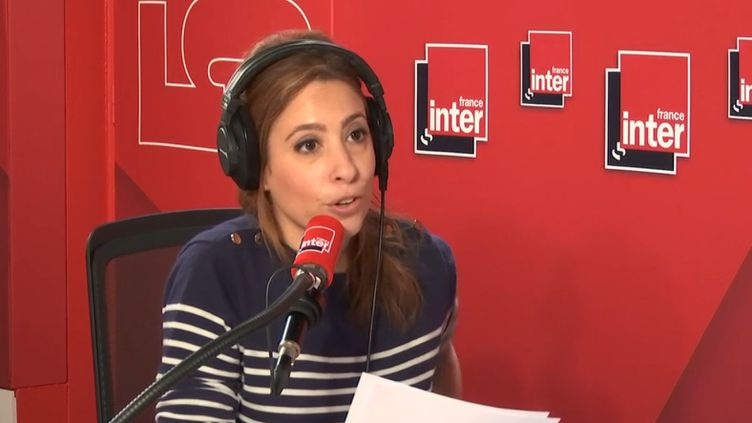 Léa Salamé sur France Inter, le 28 mars 2019. (FRANCE INTER / RADIO FRANCE)