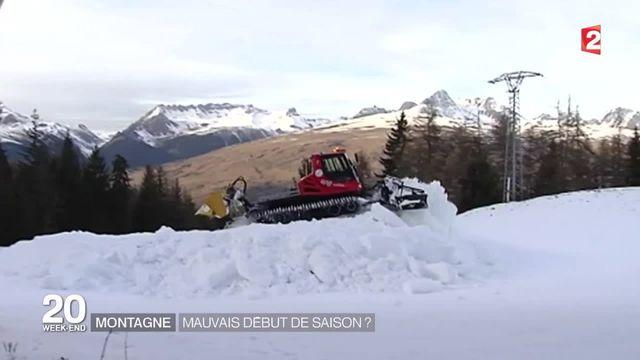 Neige : dans les stations de ski, la saison commence mal