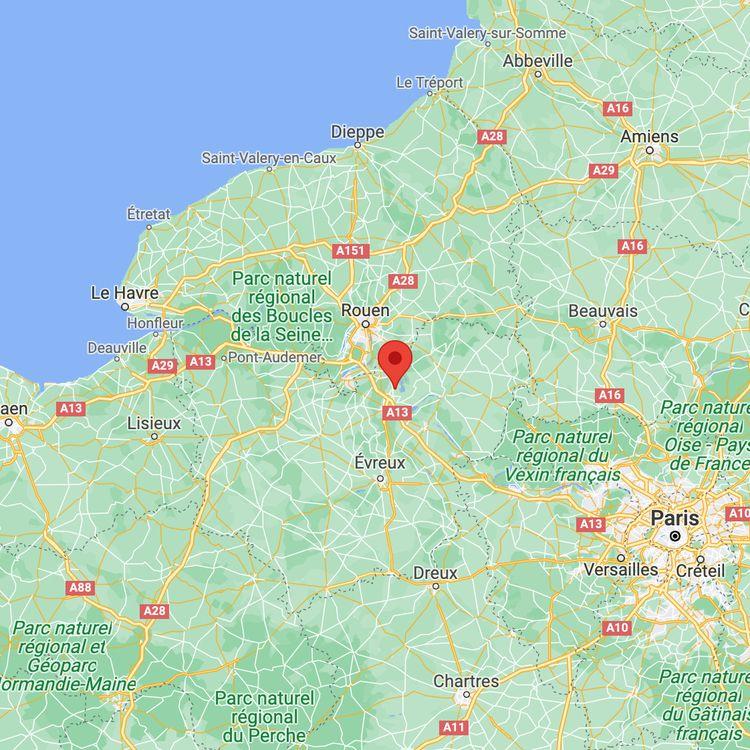 La commune de Val-de-Reuil dans l'Eure. (GOOGLE MAPS)