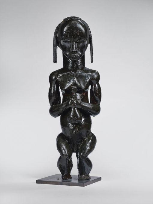 Statuette de gardien de reliquaire fabriquée au XIXe au sein de la population Fang (Gabon)  (© Musée du quai Branly - Jacques Chirac; photo Claude Germain)